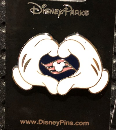 Mickey Mouse Gloves DCL Pin