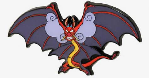 Mushu Wings BoxLunch Disney Pin