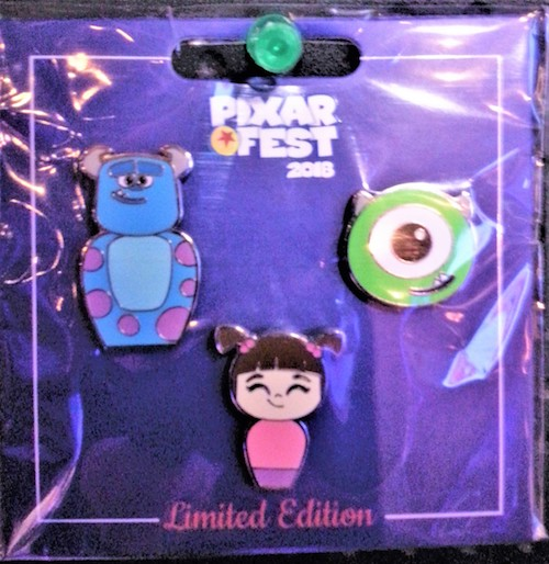 Pixar Fest 2018 Monsters University Pin Set