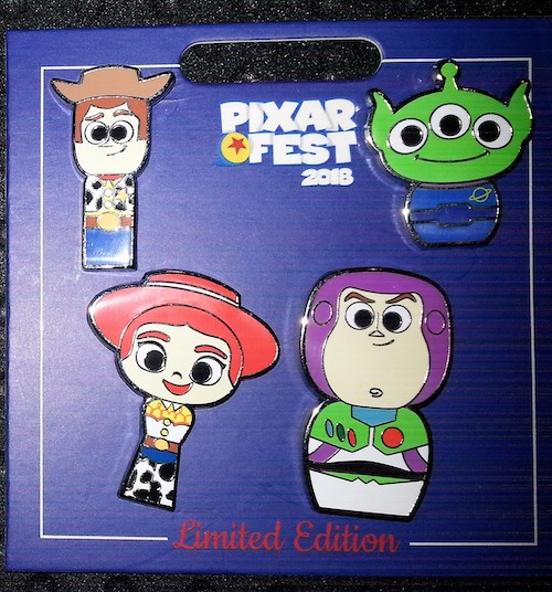 Pixar Fest 2018 Toy Story Pin Set