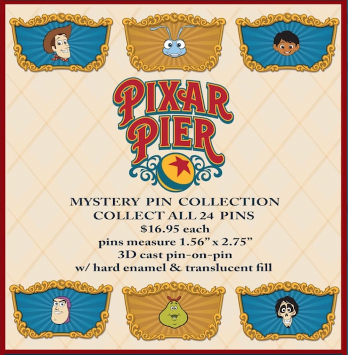 Pixar Pier WDI Mystery Pin Collection