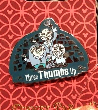 Three Thumbs Up Haunted Mansion Pin