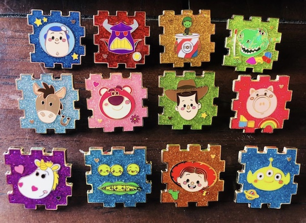 Toy Story Hidden Mickey 2018 Pin Set