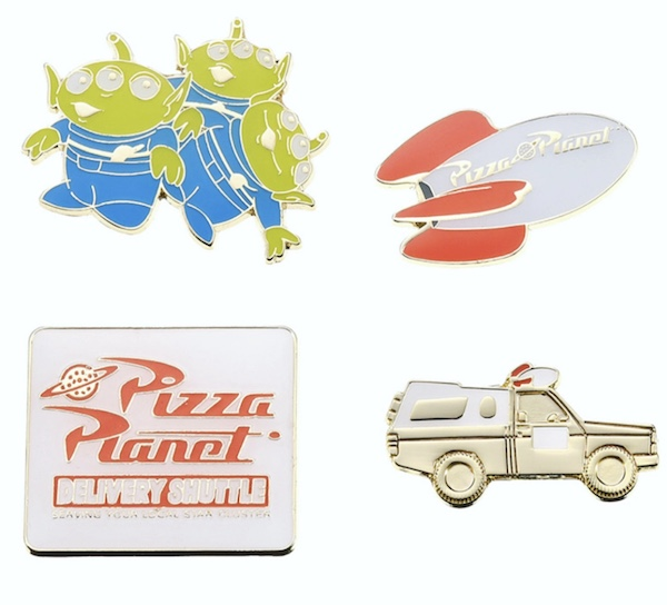 Toy Story Pizza Planet Pin Set - Disney Store Japan