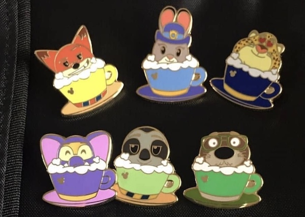 Zootopia Hidden Mickey 2018 Pin Set