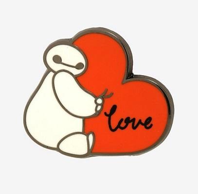 Baymax Heart BoxLunch Disney Pin