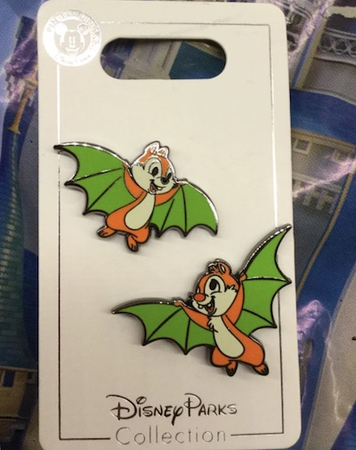 Chip and Dale Bats Halloween 2018 Pin Set