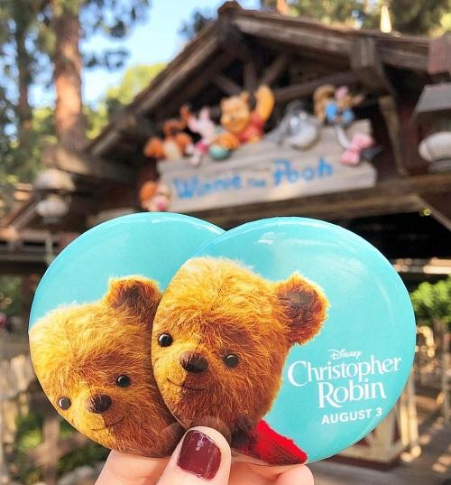 Christopher Robin Disney Button
