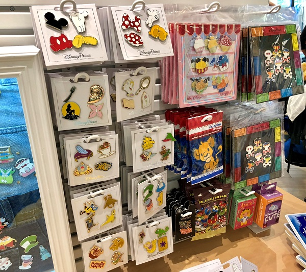 Disney Pins at DisneyStyle