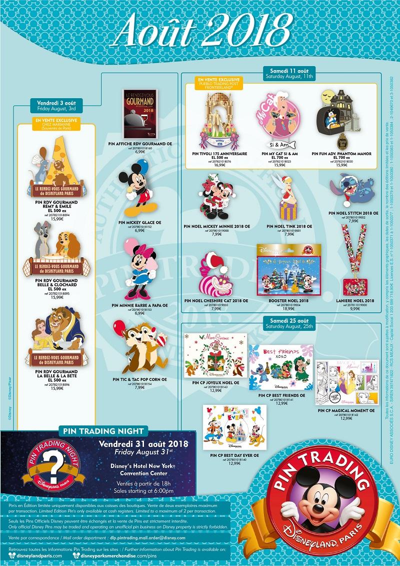 vente noel paris 2018 Disneyland Paris August 2018 Pins   Disney Pins Blog vente noel paris 2018