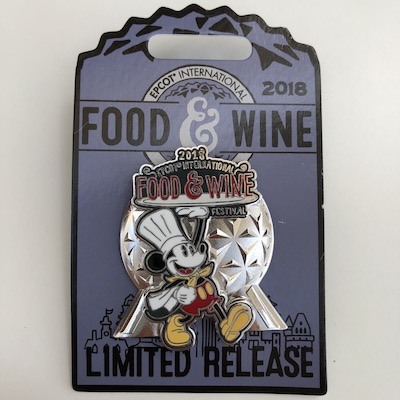 Epcot Food & Wine Pin 2018