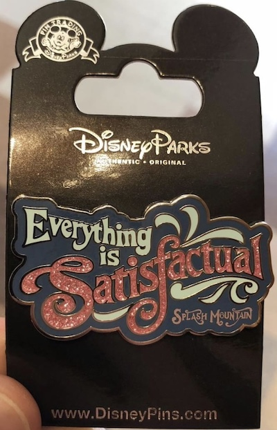 Everything is Satisfactual Pin