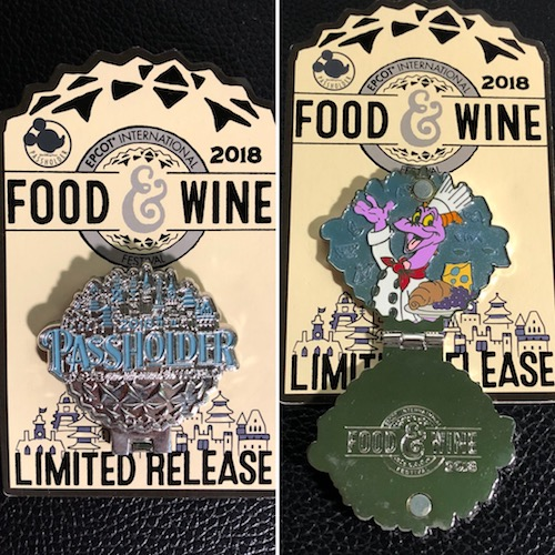 Figment Epcot Food & Wine 2018 Pin