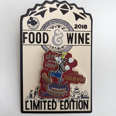 Goofy Epcot Food & Wine 2018 Pin