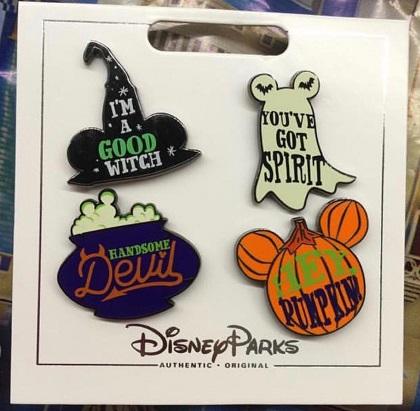 Halloween Disney Pin Set