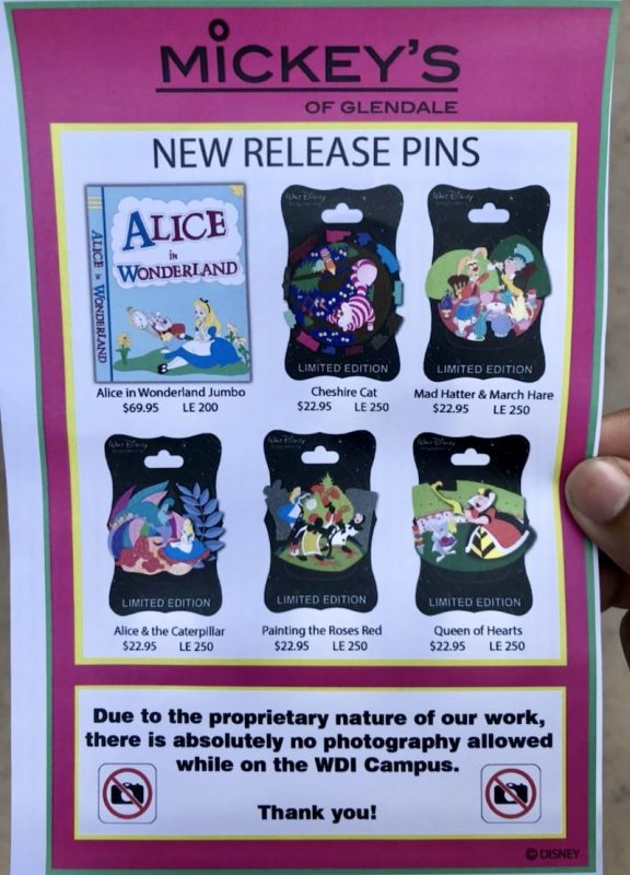 Mickey's of Glendale Summer 2018 Shopping Event Pin Releases