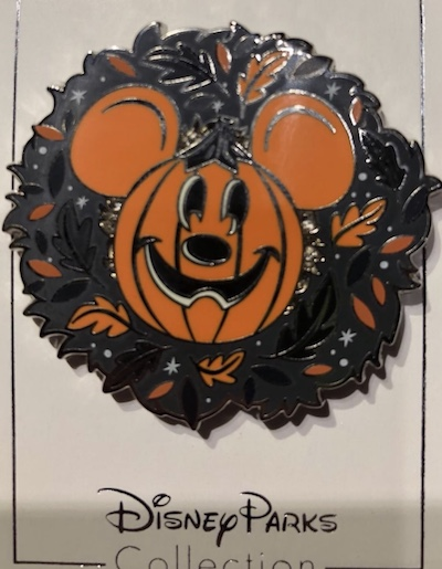 Mickey Halloween Wreath Pin