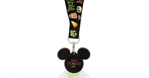 Mickey Mouse Halloween 2018 Glow Lanyard