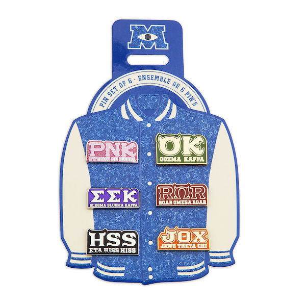 Monsters University Fraternity shopDisney Pin Set