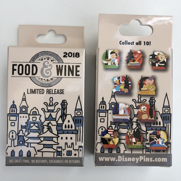 Mystery Pin Collection - Epcot Food & Wine 2018