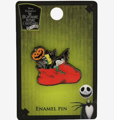 Scary Teddy Christmas Bag Nightmare Before Christmas BoxLunch Pin
