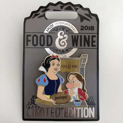 Snow White & Grumpy Epcot Food & Wine 2018 Pin