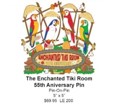 The Enchanted Tiki Room 55th Anniversary WDI Pin