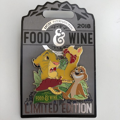 The Lion King Epcot Food & Wine 2018 Pin