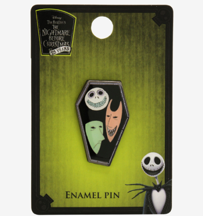 The Nightmare Before Christmas Lock Shock and Barrel BoxLunch Pin
