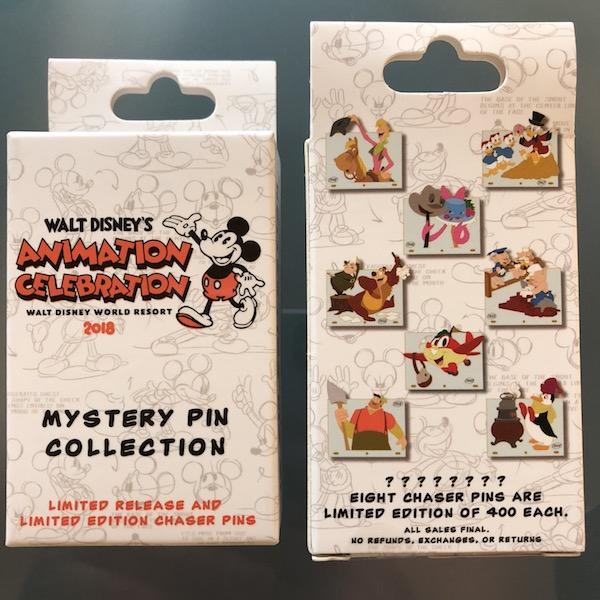 Walt Disney's Animation Celebration 2018 Mystery Pin Collection