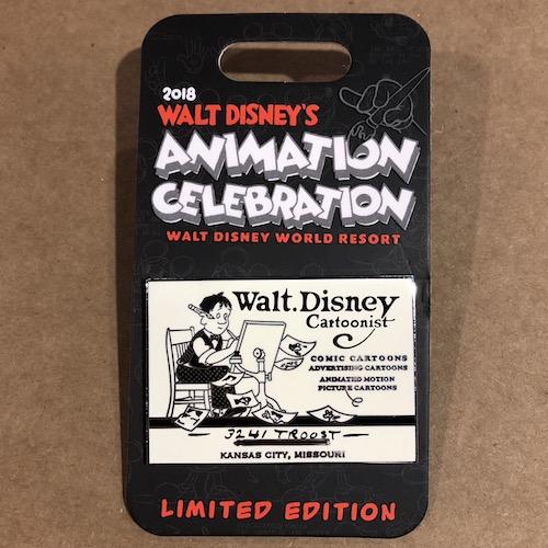 Walt Disney's Animation Celebration 2018 Welcome Pin