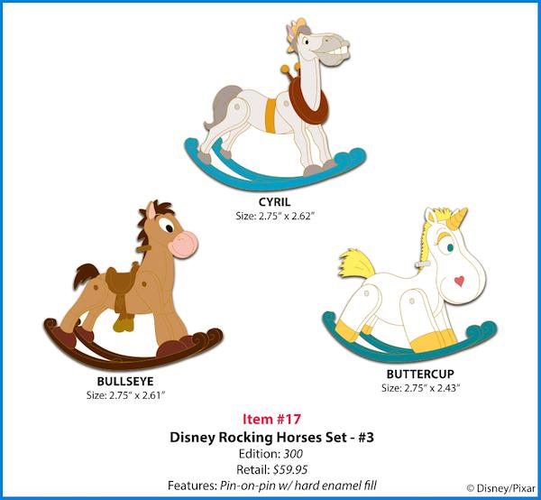 Disney Rocking Horses Pin Set #3