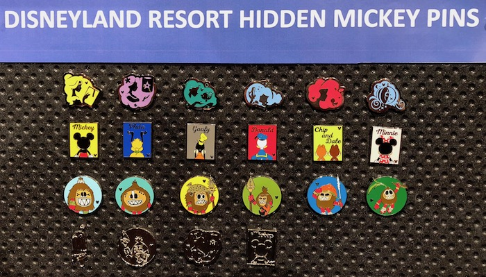 Disneyland Hidden Mickey Pins 2018 Wave B