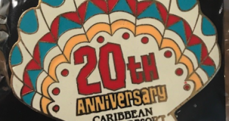 Disney's Caribbean Beach Resort 20th Anniversary Pin