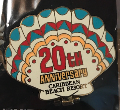 Disney's Caribbean Beach Resort 20th Anniversary Pin