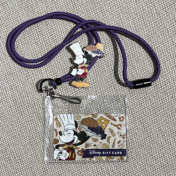 Epcot Food & Wine 2018 Limited Release Gift Card Lanyard