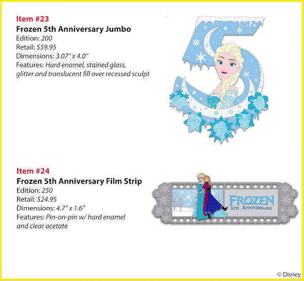 Frozen 5th Anniversary WDI Pins