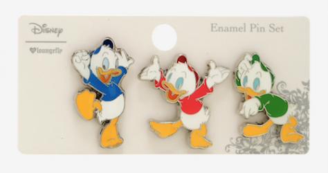 Huey Duey And Louie BoxLunch Disney Pin Set