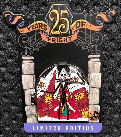 Jack Skellington 25 Years of Fright Disney Pin