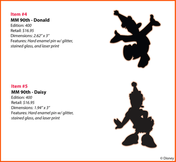 MM 90th Donald, Daisy WDI Pins