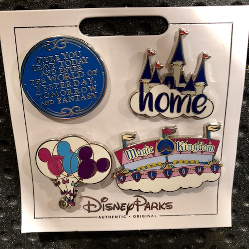 Magic Kingdom Disney Pin Set