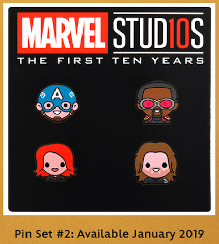 Marvel Emoji Pin Set #2 - Disney Movie Rewards