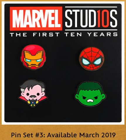 Marvel Emoji Pin Set #3 - Disney Movie Rewards