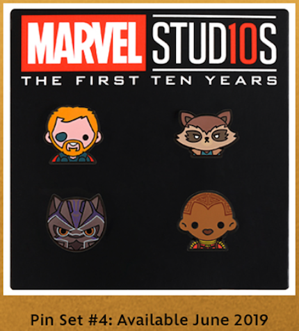Marvel Emoji Pin Set #4 - Disney Movie Rewards