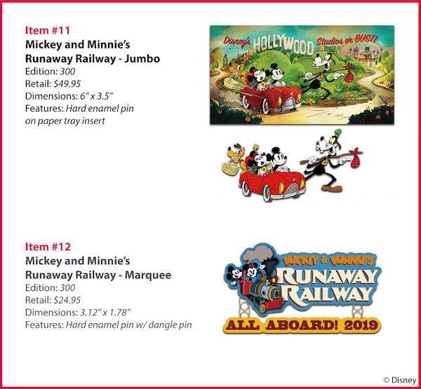 Mickey and Minnie's Runaway Railway WDI Pins