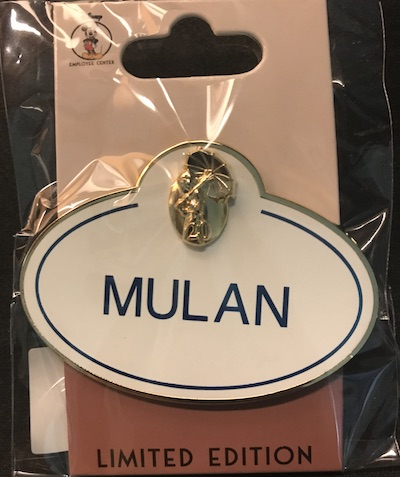 Mulan 20th Anniversary Nametag Pin
