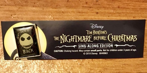 Nightmare Before Christmas 25th Anniversary Blu-Ray Collectible Pin