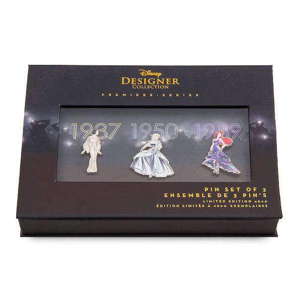Pin Set One - Disney Princess Designer Premeire Collection Pin Set Box
