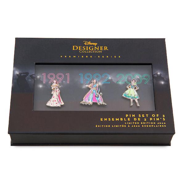 Pin Set Two - Disney Princess Designer Premeire Collection Pin Set Box