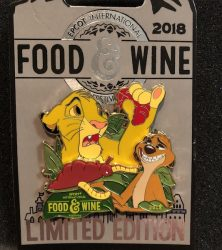 The Lion King Epcot Food and Wine 2018 Pin